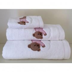 Juego de toallas bordada con osito